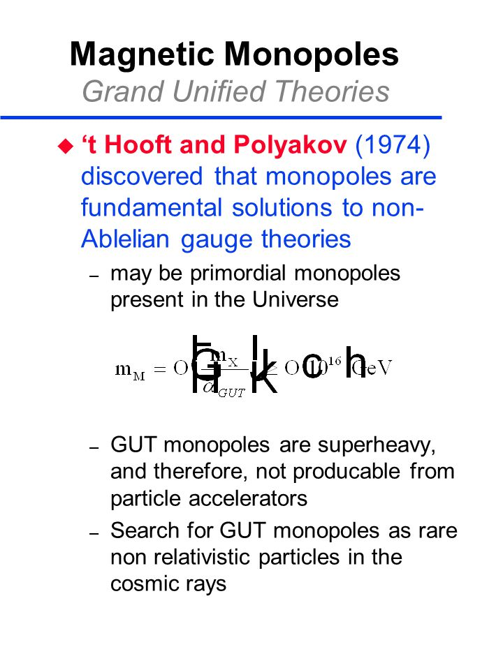 Magnetic Monopoles Grand Unified Theories