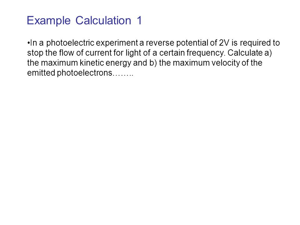 Example Calculation 1