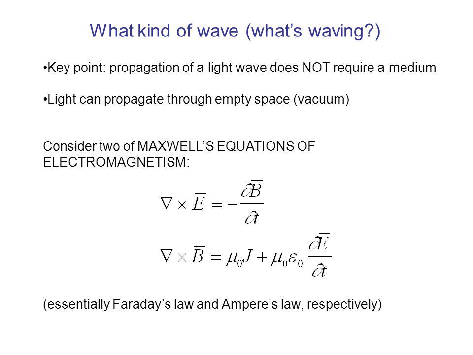 What kind of wave (what's waving )