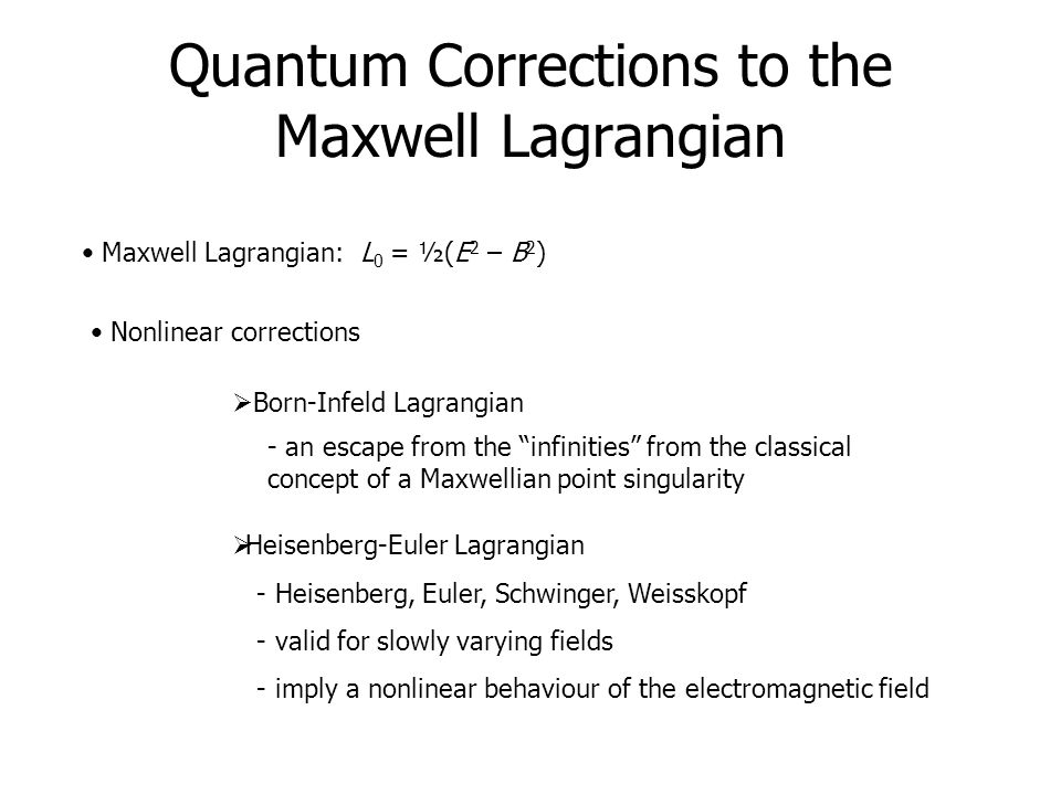 Quantum Corrections to the Maxwell Lagrangian