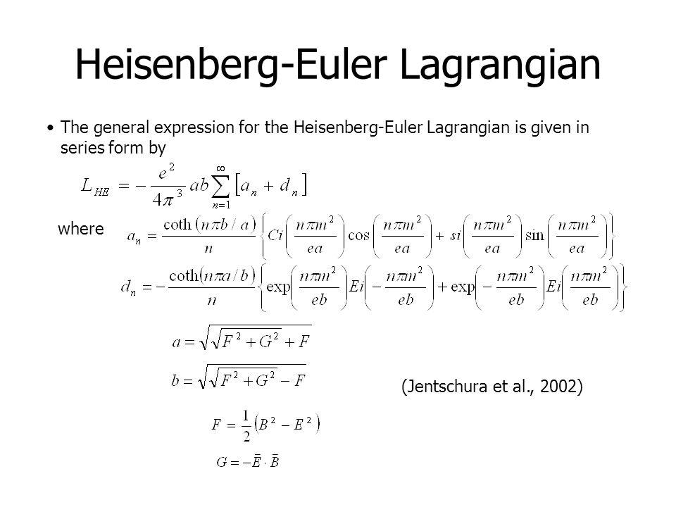 Heisenberg-Euler Lagrangian