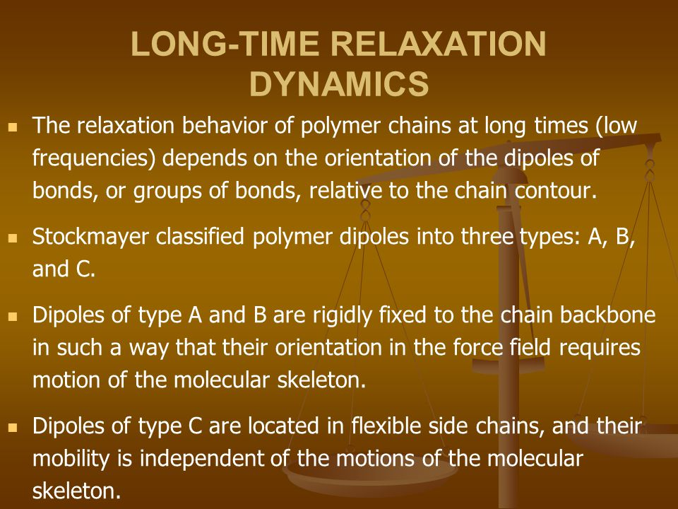 LONG-TIME RELAXATION DYNAMICS