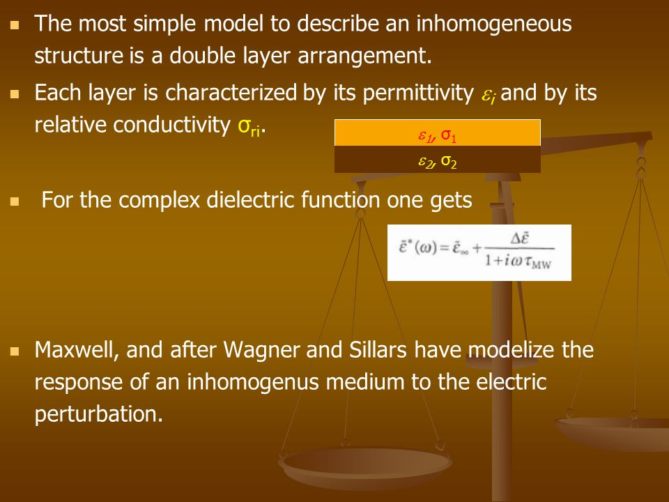 For the complex dielectric function one gets