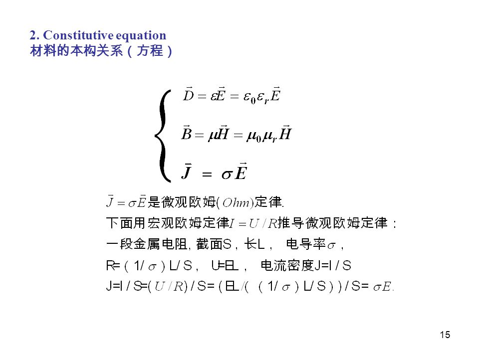 2. Constitutive equation