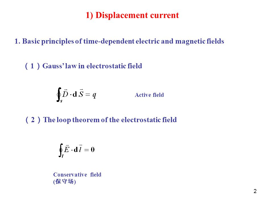 1) Displacement current