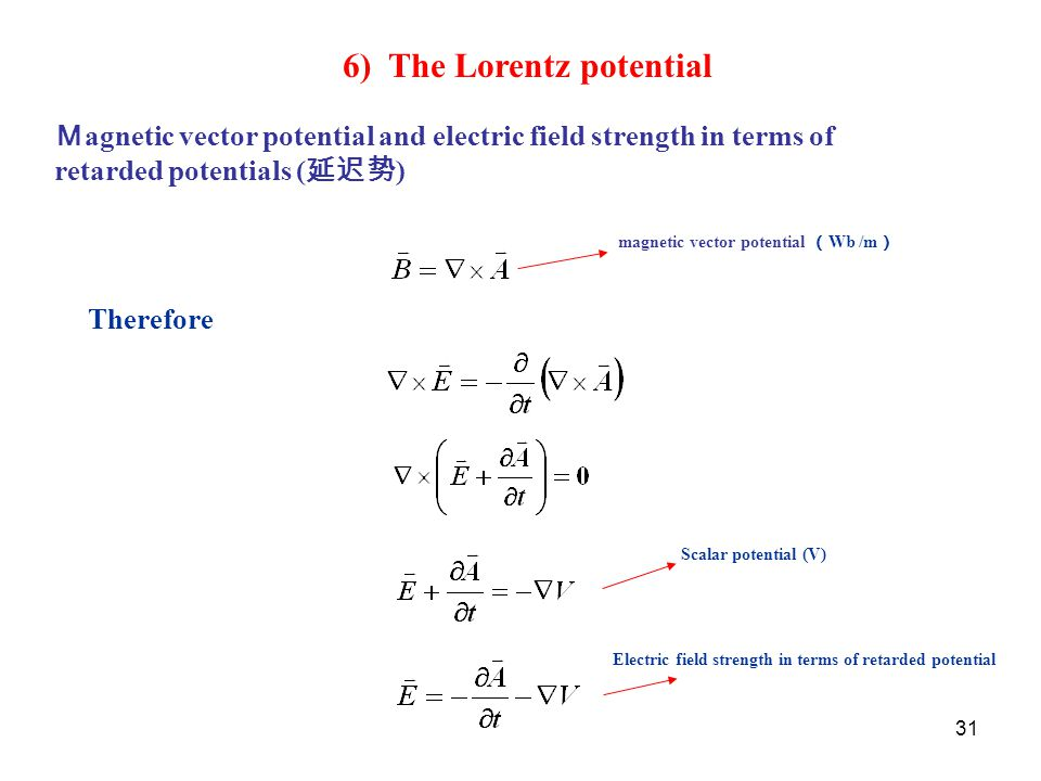 6) The Lorentz potential