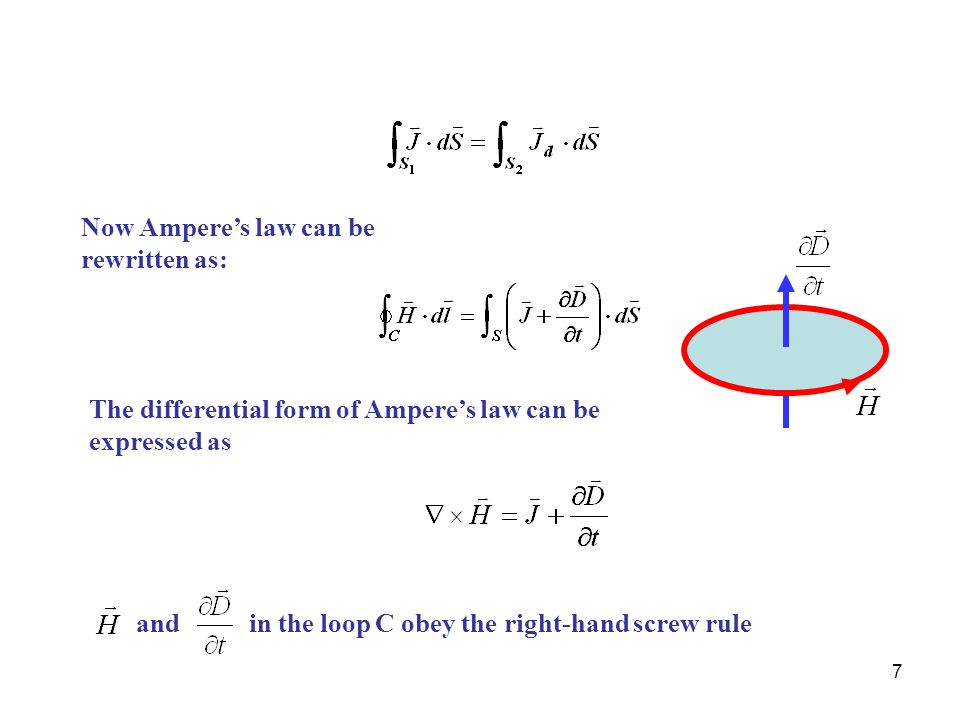 Now Ampere's law can be rewritten as: