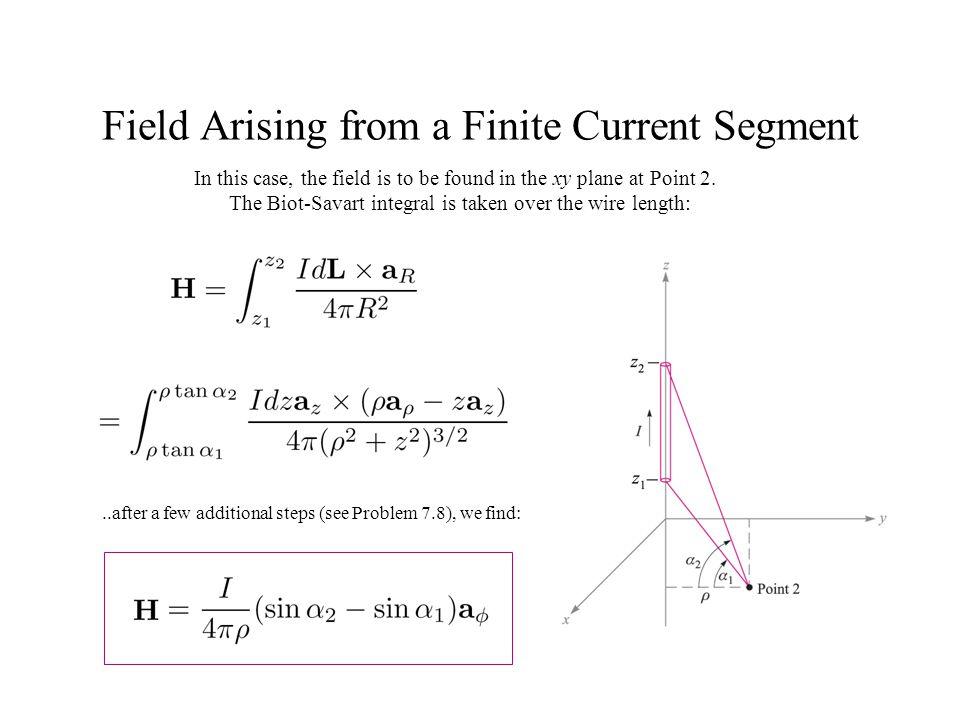 Field Arising from a Finite Current Segment
