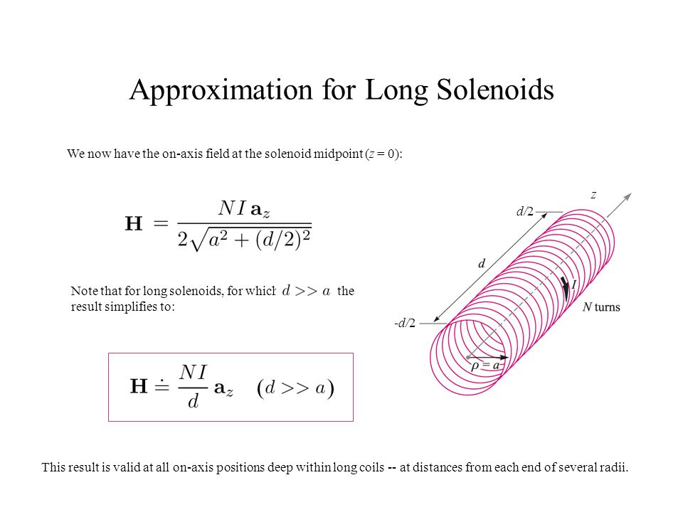Approximation for Long Solenoids