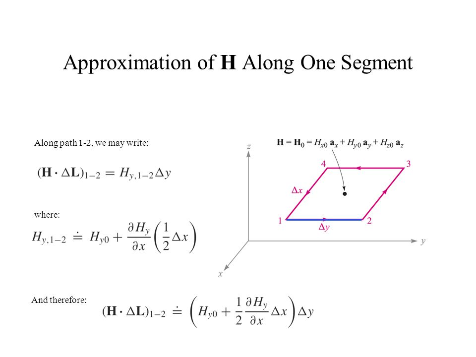 Approximation of H Along One Segment