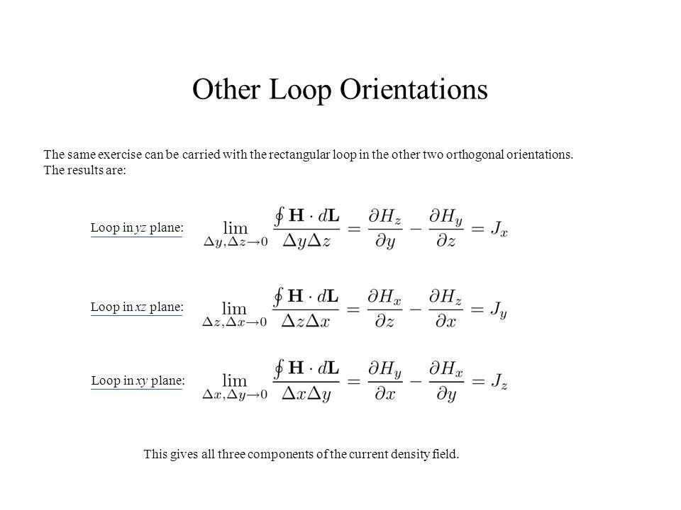 Other Loop Orientations