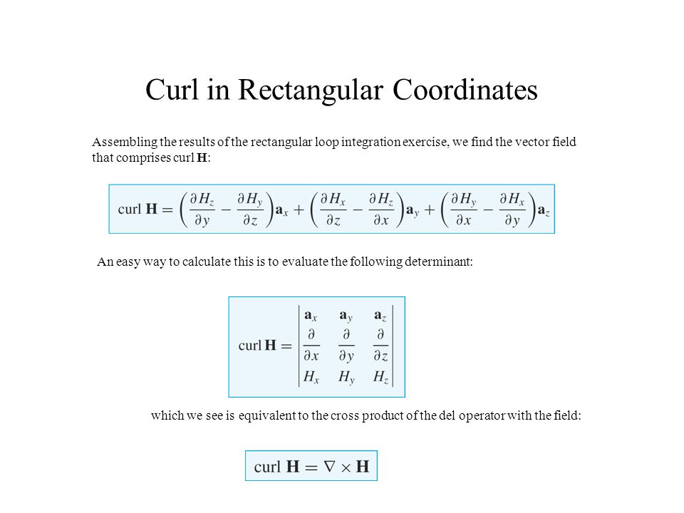 Curl in Rectangular Coordinates