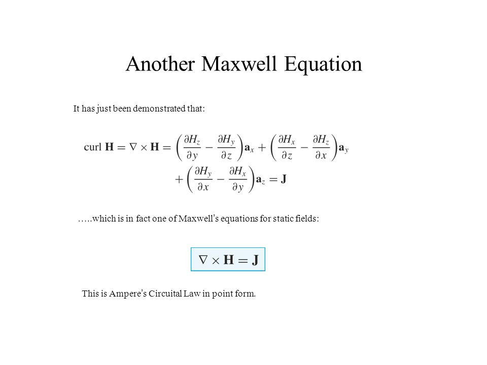 Another Maxwell Equation