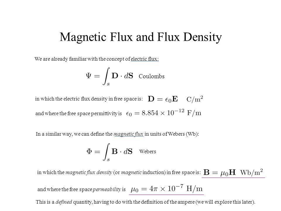 Magnetic Flux and Flux Density