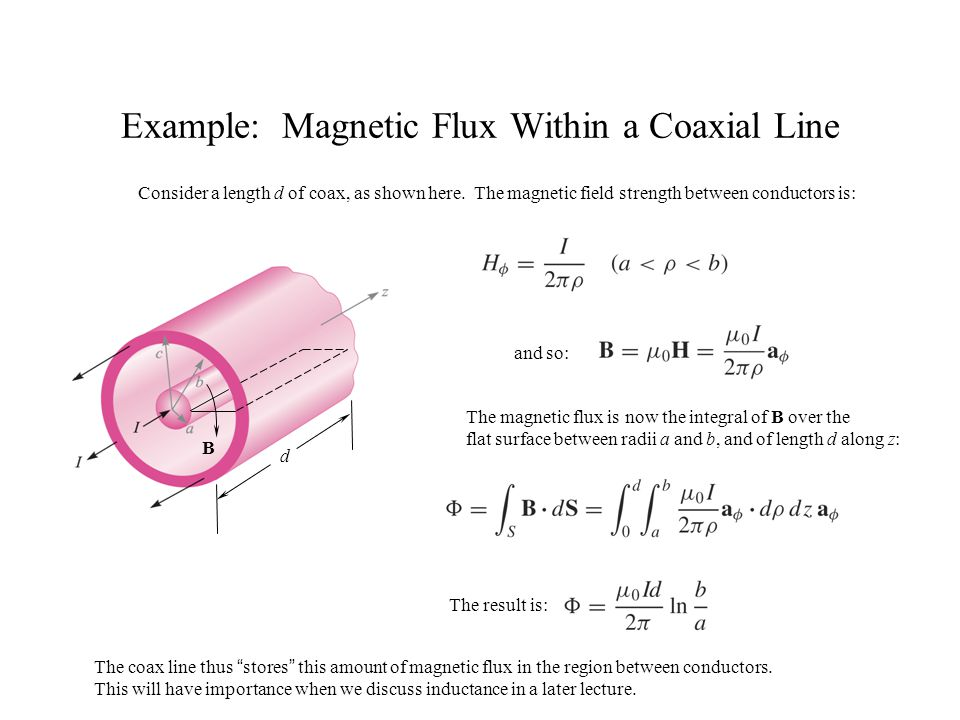 Example: Magnetic Flux Within a Coaxial Line