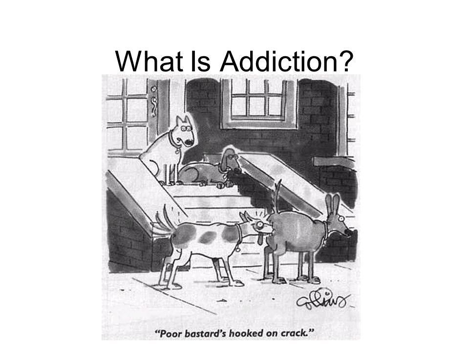 What Is Addiction This slide illustrates beautifully a big misunderstanding about addiction.