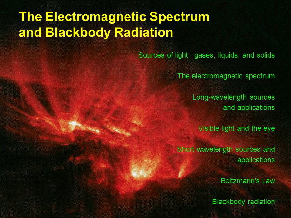 The Electromagnetic Spectrum and Blackbody Radiation