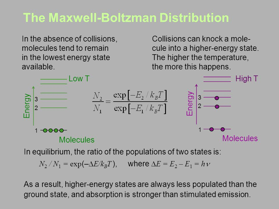 The Maxwell-Boltzman Distribution