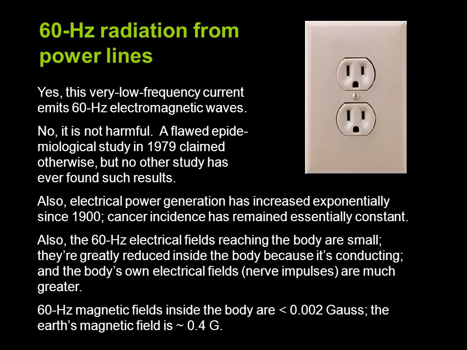 60-Hz radiation from power lines