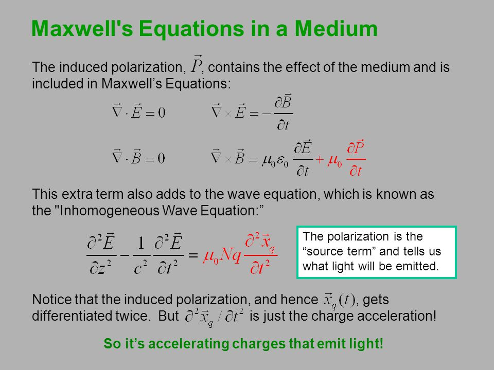 Maxwell s Equations in a Medium