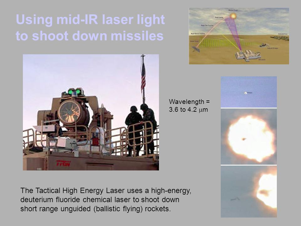 Using mid-IR laser light to shoot down missiles