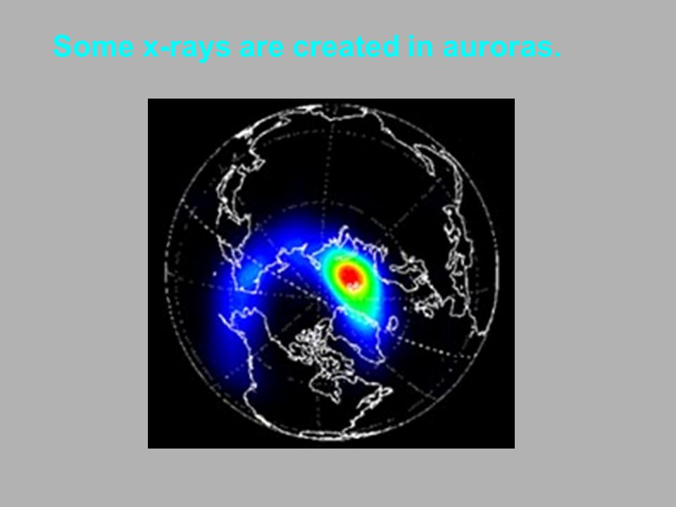 Some x-rays are created in auroras.