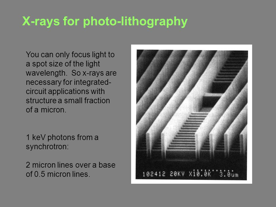 X-rays for photo-lithography