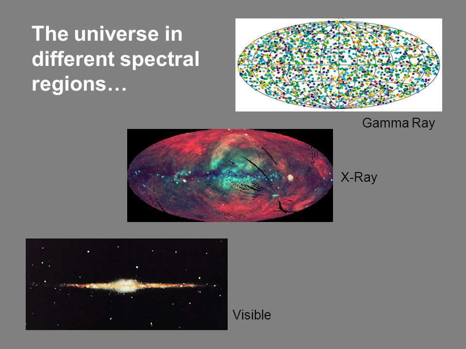 The universe in different spectral regions…