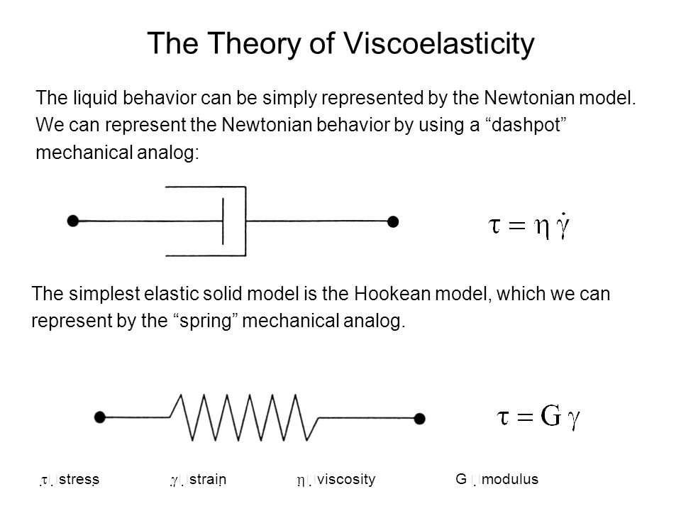 The Theory of Viscoelasticity