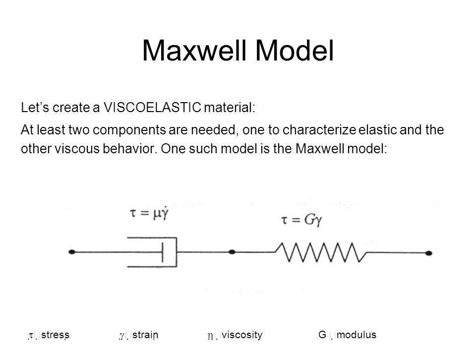 Maxwell Model Let's create a VISCOELASTIC material:
