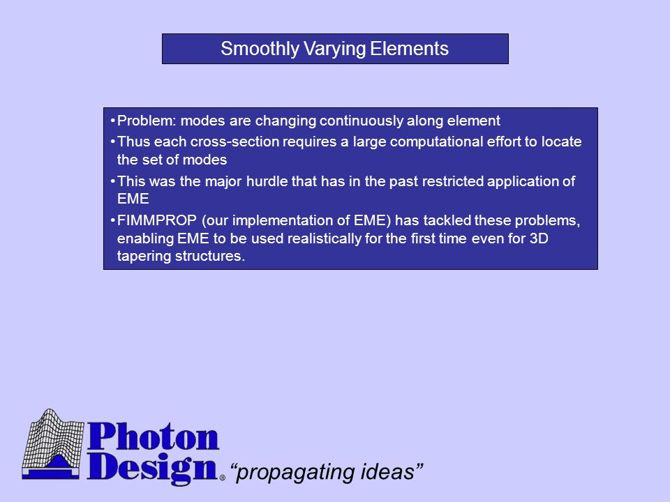 Smoothly Varying Elements