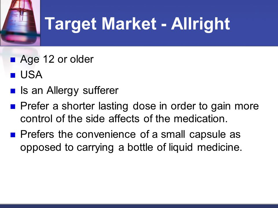 Target Market - Allright