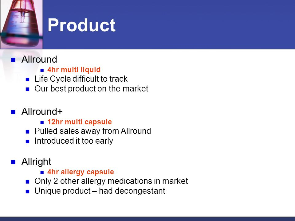 Product Allround Allround+ Allright Life Cycle difficult to track