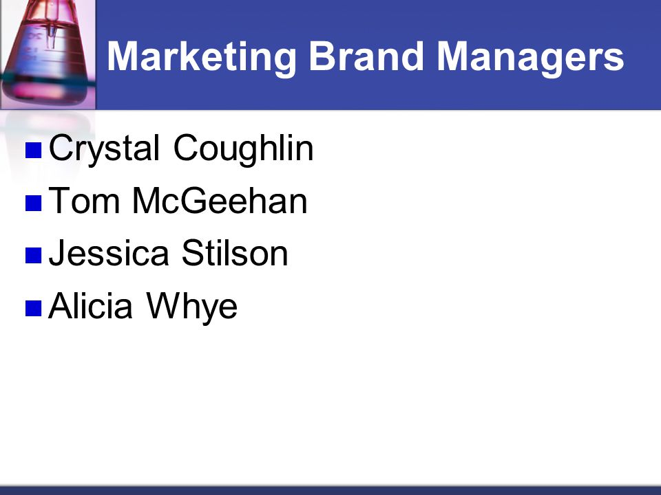 Marketing Brand Managers