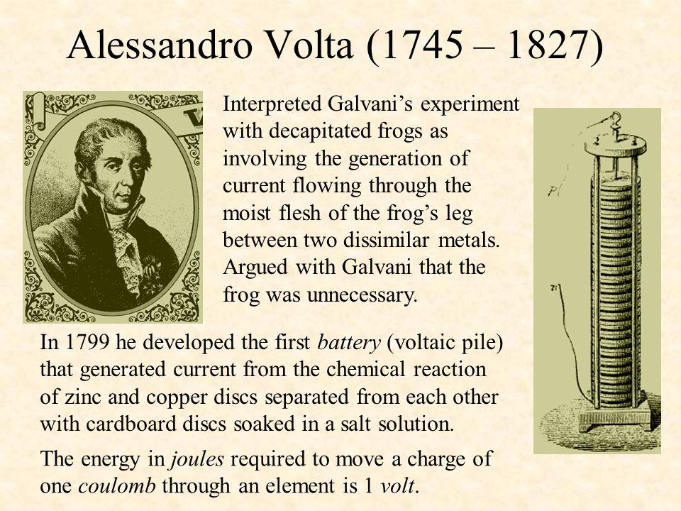 Alessandro Volta (1745 – 1827)