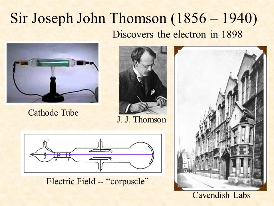 Sir Joseph John Thomson (1856 – 1940)
