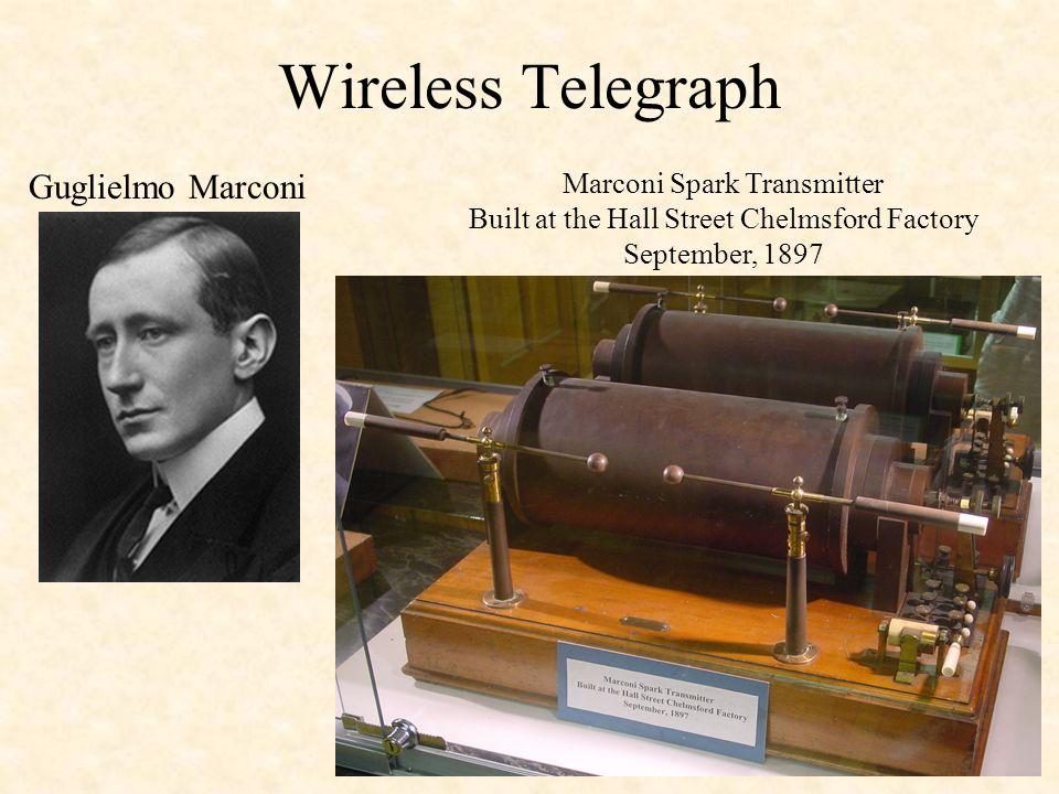 Wireless Telegraph Guglielmo Marconi Marconi Spark Transmitter