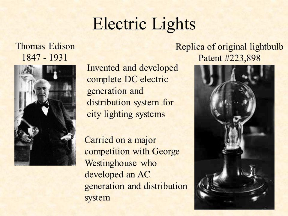 Replica of original lightbulb