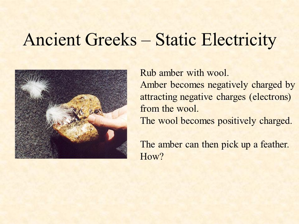 Ancient Greeks – Static Electricity