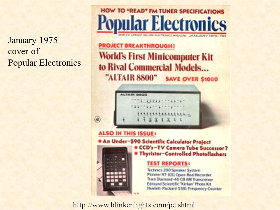 January 1975 cover of Popular Electronics