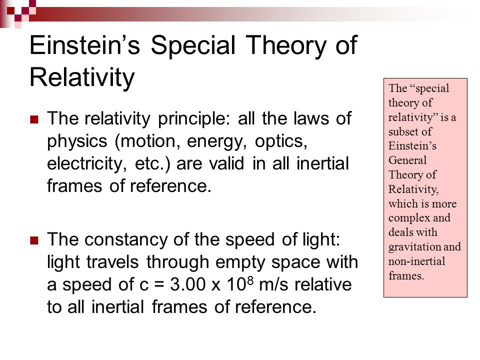 Einstein's Special Theory of Relativity