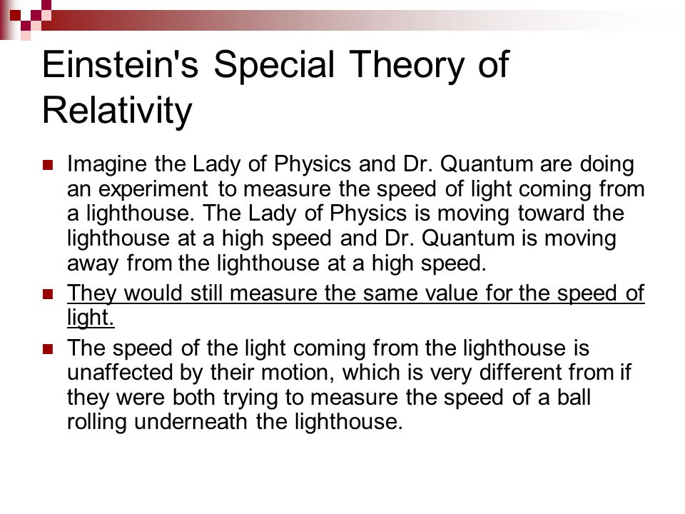 Einstein s Special Theory of Relativity