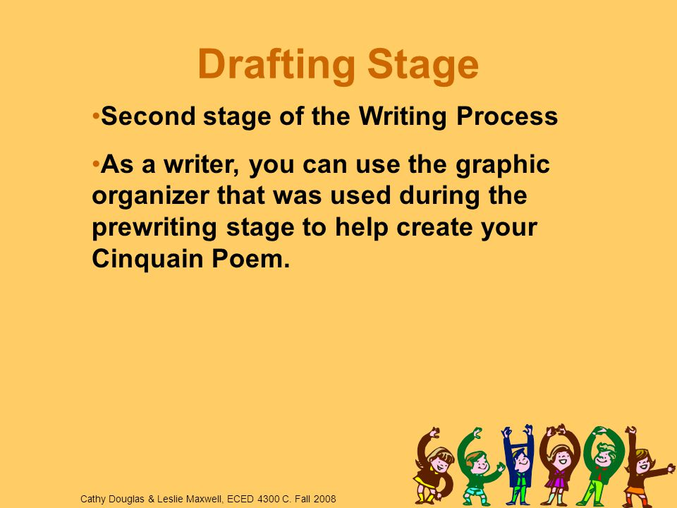 Drafting Stage Second stage of the Writing Process