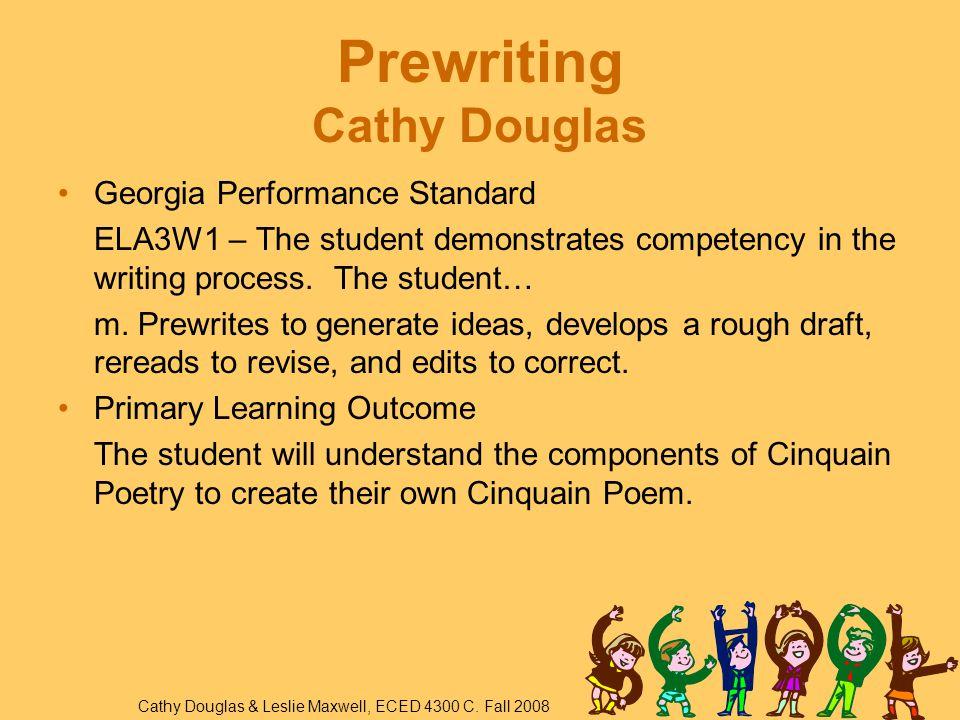 Prewriting Cathy Douglas