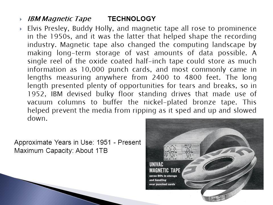 IBM Magnetic Tape TECHNOLOGY