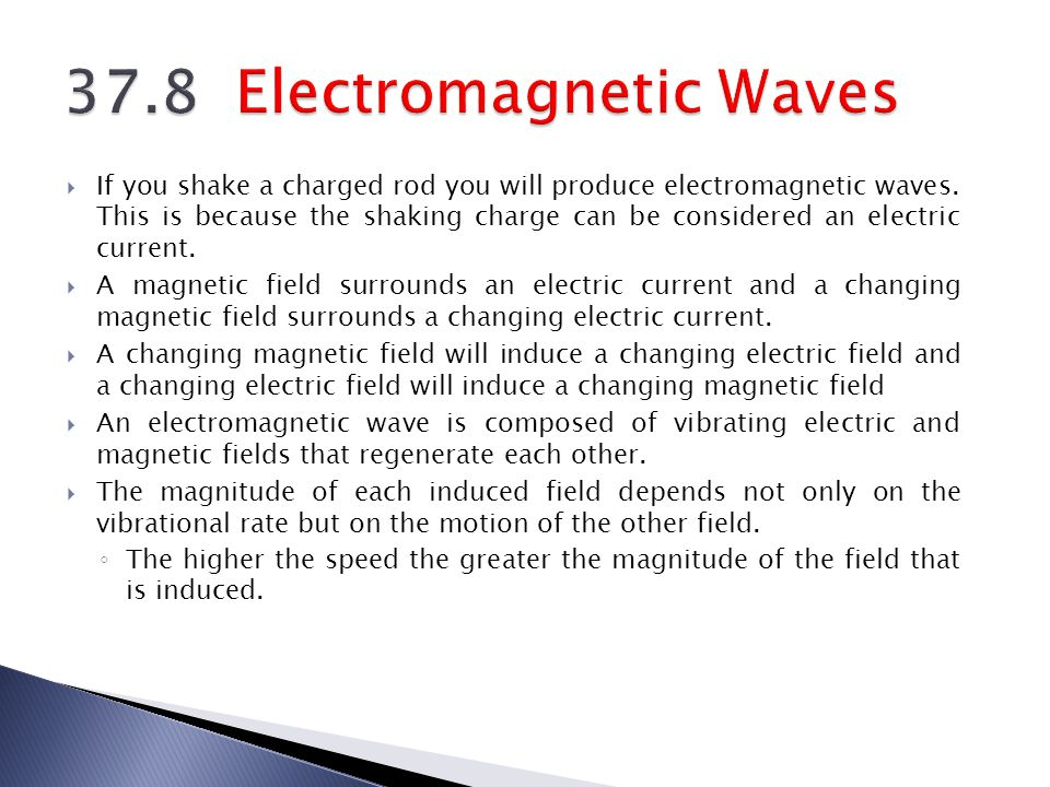 37.8 Electromagnetic Waves