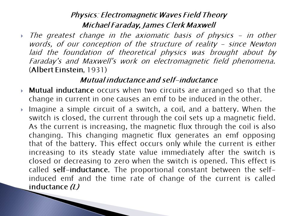 Physics: Electromagnetic Waves Field Theory