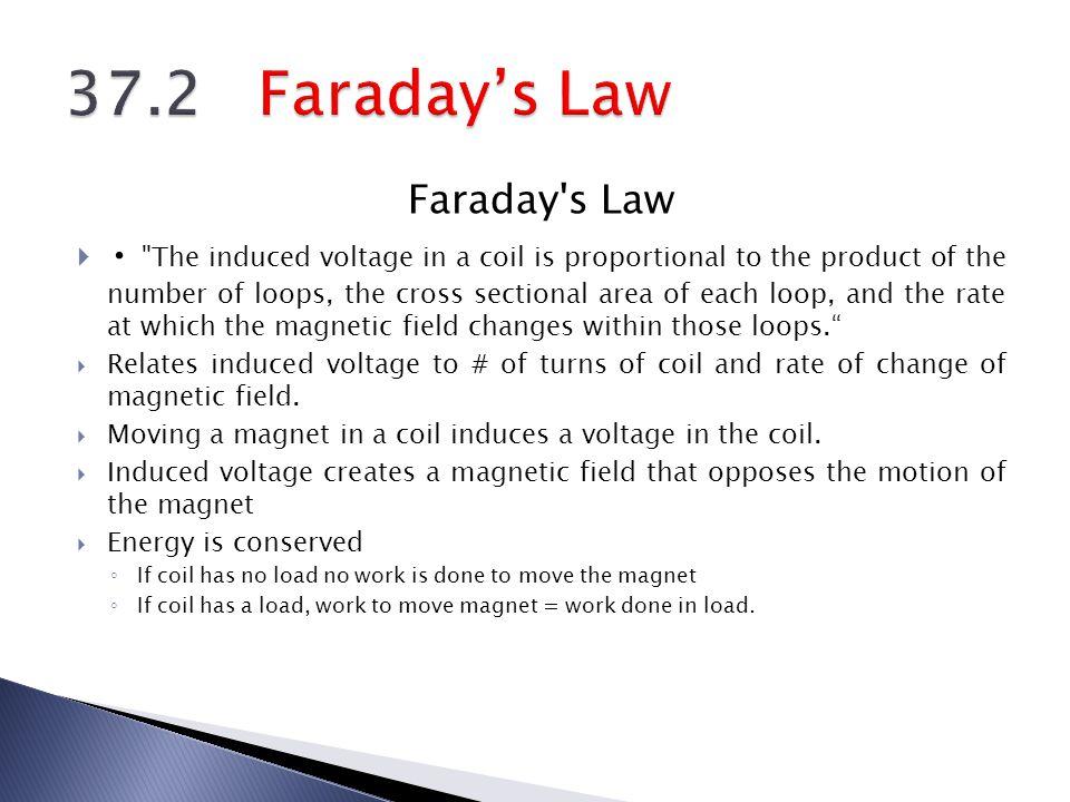 37.2 Faraday's Law Faraday s Law