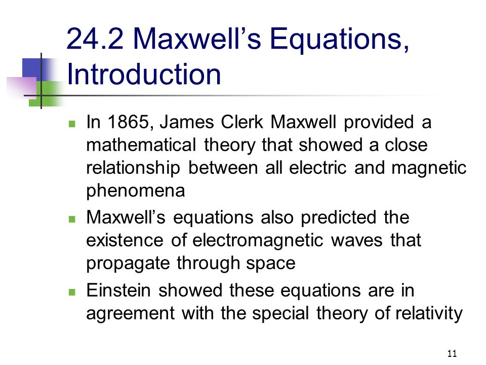 24.2 Maxwell's Equations, Introduction