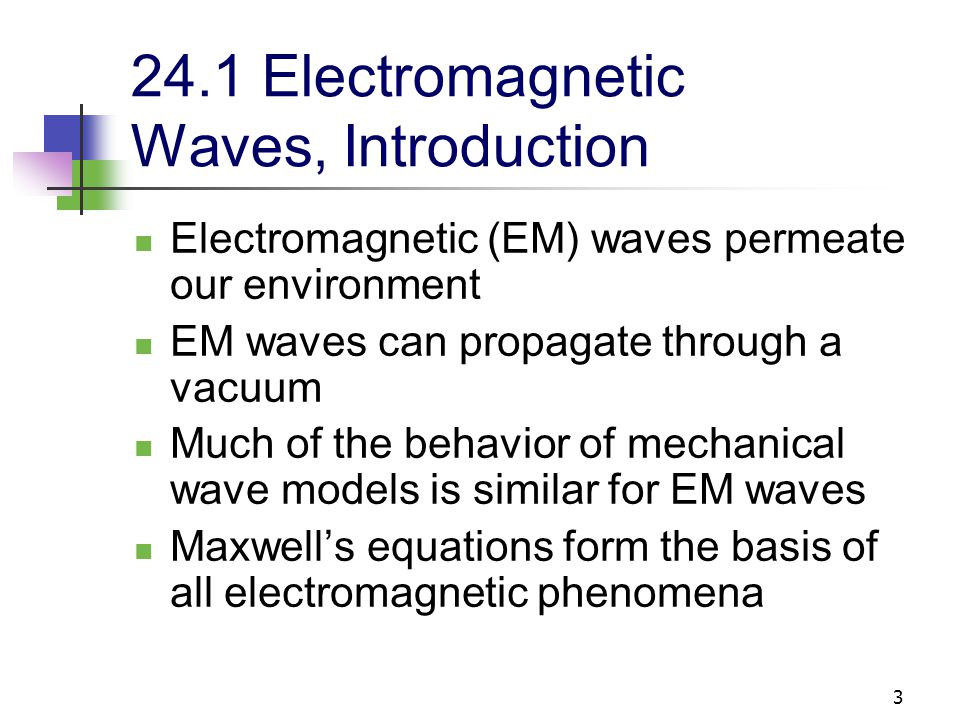 24.1 Electromagnetic Waves, Introduction